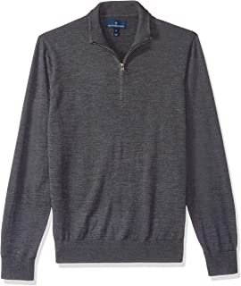 Buttoned Down Men's Italian Merino Cashwool Quarter-Zip Sweater
