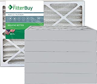 FilterBuy 20x24x4 MERV 13 Pleated AC Furnace Air Filter, (Pack of 6 Filters), 20x24x4 – Platinum
