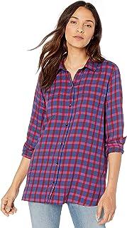 Amazon Brand - Goodthreads Women`s Modal Twill Two-Pocket Relaxed Shirt