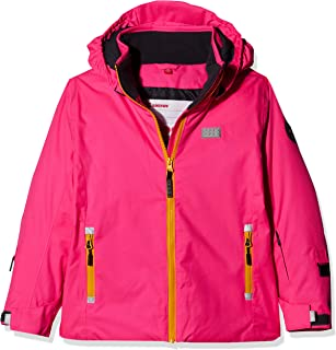 LEGO Wear Girls Jacket With Adjustable Cuffs and Mobile Phone Pocket, Dark Pink, 6 Yr
