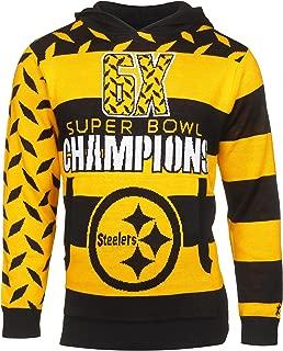 Klew NFL Football Super Bowl Commemerative Acrylic Hoody - Pick Team (Pittsburgh Steelers, Medium)