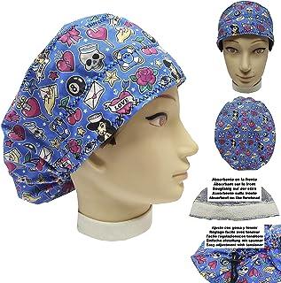 Cappello chirurgico Donna TATUAGGI per Capelli Lunghi Asciugamano assorbente sulla fronte facilmente regolabile medico Inf...