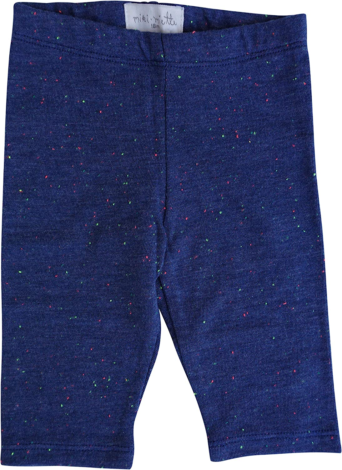 MikiMiette Baby Girls Crop Leggings Super Soft and Comfortbale 65% Cotton 35% Polyester: Clothing