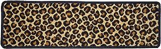 Dean Premium Non-Slip Pet Friendly Carpet Stair Treads/Runner Rugs - Animal Print Leopard 30