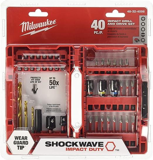Milwaukee Shockwave Impact Driver Bit Set 40 Piece NEW 48-32-4022 Brand NEW