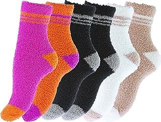 Vincent Creation, Pack de 6 pares de calcetines para dormir suaves en varios color con rayas