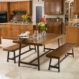 "Christopher Knight Home Hamilton Acacia Oak Foldable 3pc Dining Set, 70.47""L x 35.43""W x 29.13""H"