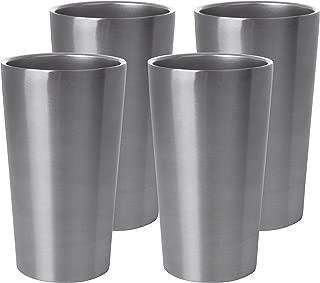 Maxam Stainless-Steel 4 Piece Double Wall Tumbler Set, 13 Ounce Each