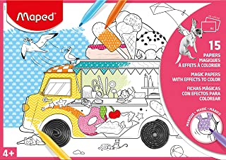 Maped Colouring Sheets with Magic Reveal (15 Pack)