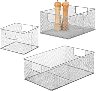 wire mesh kitchen storage baskets