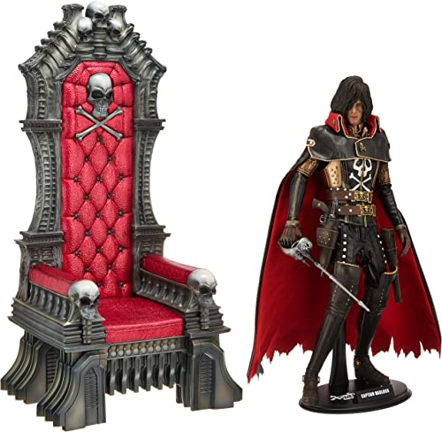 Hot Toys Movie Master Piece  Space Pirate Captain Harlock - Captain Harlock with Throne of Arcadia