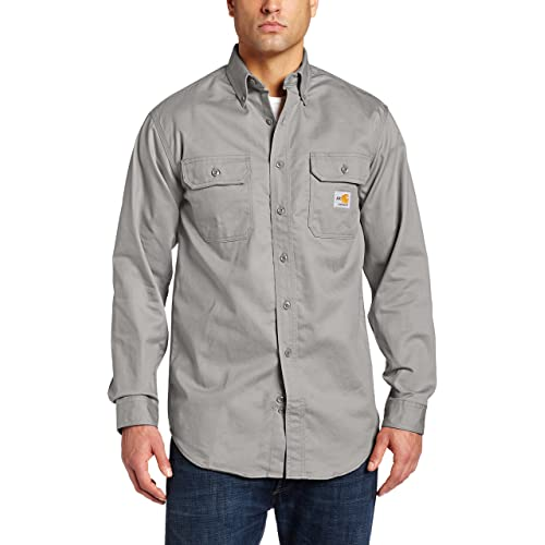 366ba1900226 Carhartt Flame-Resistant Twill Shirt with Pocket Flaps