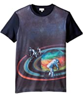 Paul Smith Junior - Short Sleeve All Over Planet Tee (Big Kids)