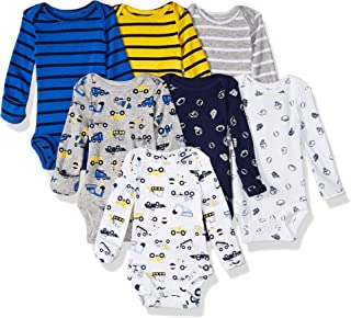 Carter's Baby Boys' 7-Pack Long-Sleeve Bodysuits