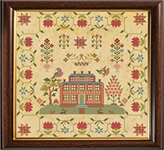 Antique English 1831 Red Brick House Sampler Reproduction Cross Stitch Counted Chart PDF on CD Unique Easy to Make Vintage English