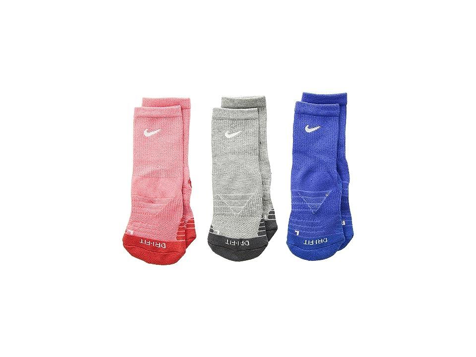 Nike Kids Dri-FITtm Cotton Cush Crew (Toddler) (Sea Coral) Girls Shoes