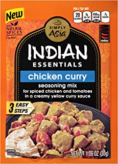 Simply Asia Indian Essentials Chicken Curry Seasoning Mix, 1.06 oz/pack  (Pack of 12)