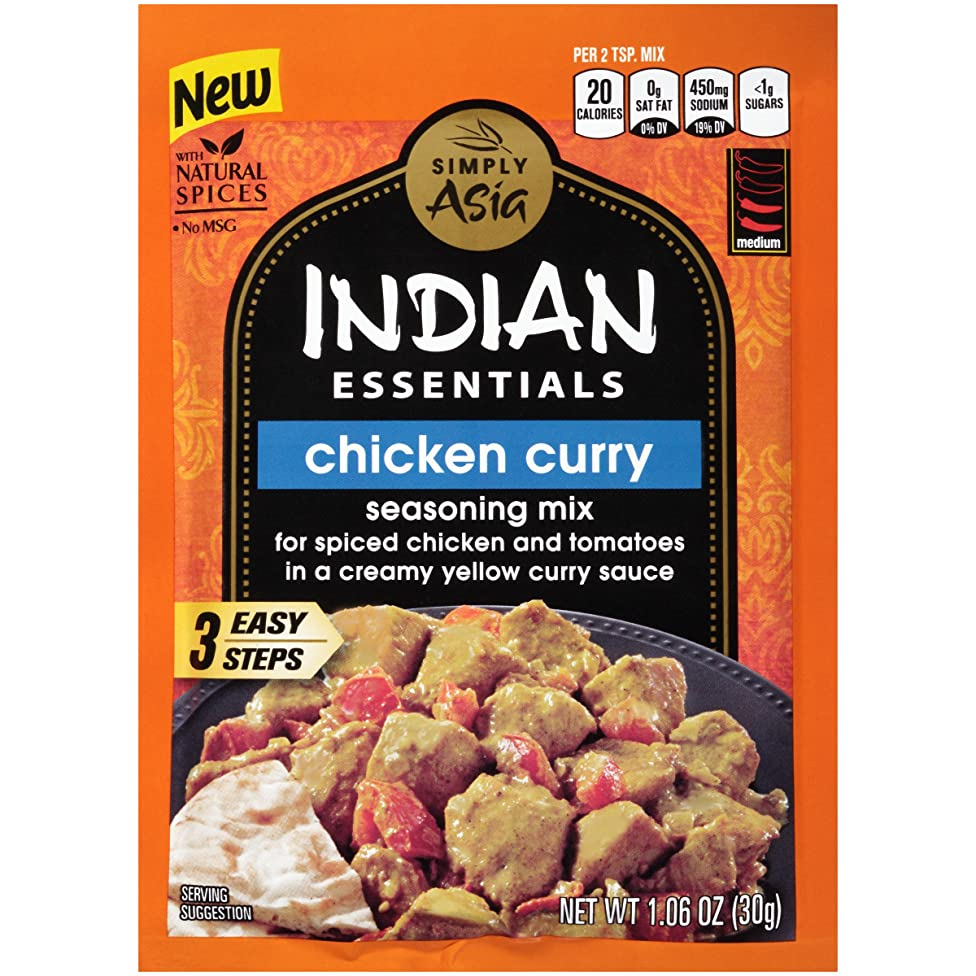 Indian Essentials Chicken Curry Seasoning Mix (Indian Curry Spice Mix), 1.06 oz, pack of 12