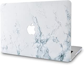 KECC MacBook Air 13 Pulgadas Funda Dura Case Cover MacBook Air 13.3 Ultra Delgado Plástico {A1466/A1369} (Mármol Blanco)