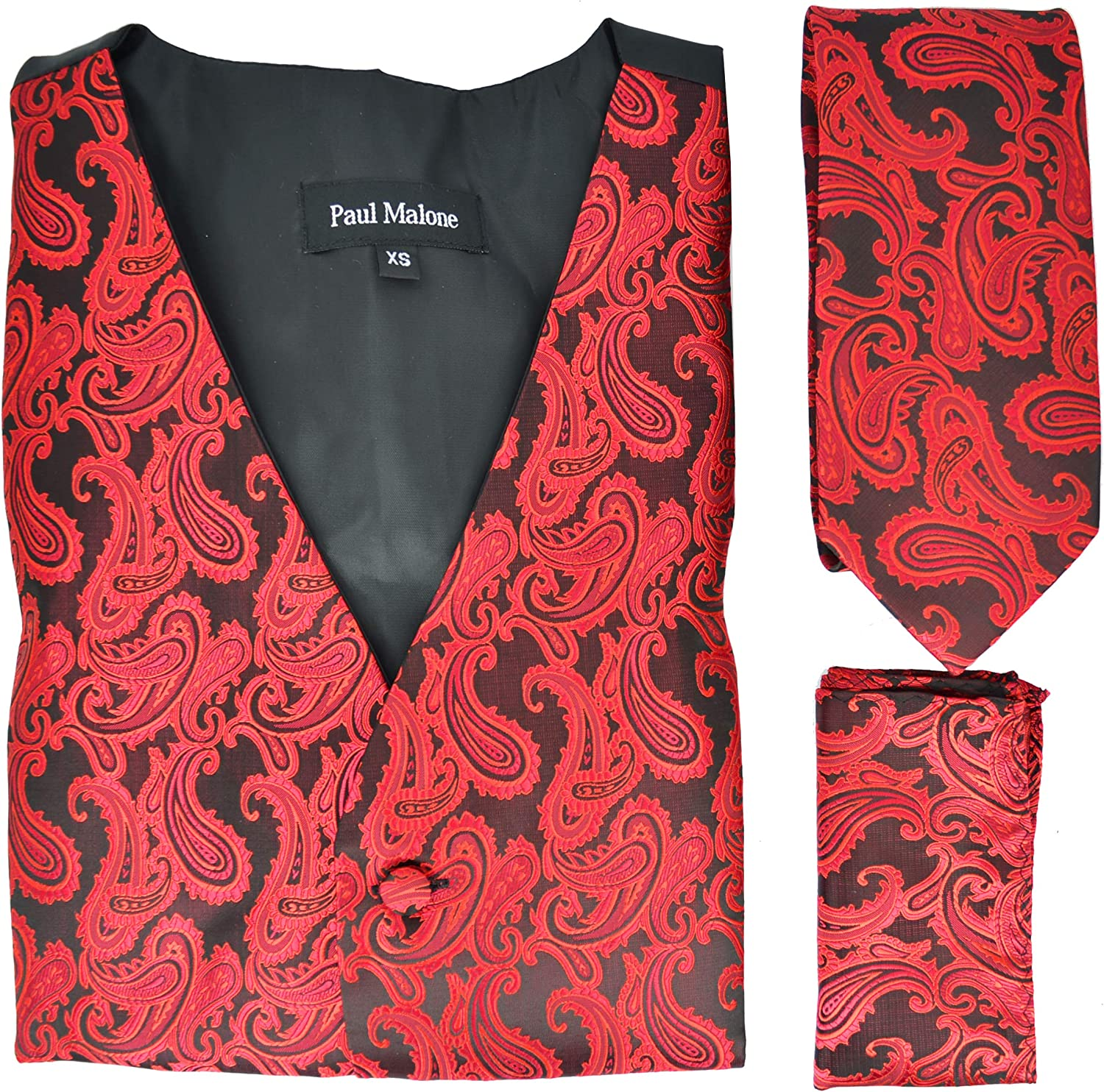 Paul All items in the store Malone specialty shop Formal Tuxedo Vest Set with and Square Pocket Tie
