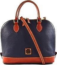 Dooney & Bourke Zip Zip Satchel Pebble Grain Leather Shoulder Bag Purse Handbag