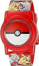Pokemon Kids Digital Watch with Flashing LED Lights and Flip Open Top Model: POK4186AZ