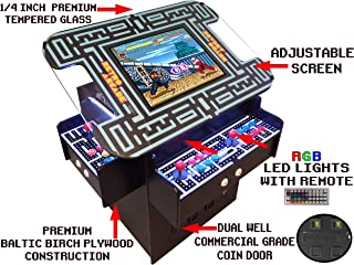 Suncoast Arcade Premium 3-Sided Cocktail Arcade Machine with Over 1,000 Games, Reversible Graphics, Commercial Grade, Industries Best 5 Year Warranty