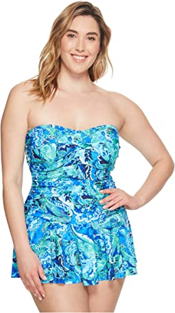 LAUREN Ralph Lauren - Plus Size Exotic Skirted One-Piece