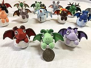 AMZ885 - Clay Dragon Egg, Handmade Sculpture, Ornament, Hatchery, Red Dragon, Green Lizard Dragon, Purple Dragon