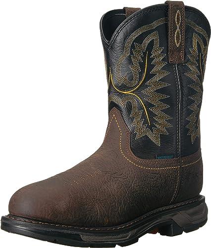Ariat - Chaussures de Travail Western Workhog XT H2O Hommes, 41.5 W EU, Bruin marron noir