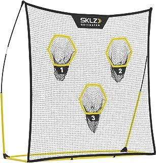 SKLZ Quickster Portable Football Training Net for Quarterback Passing Accuracy (7x7 Feet)