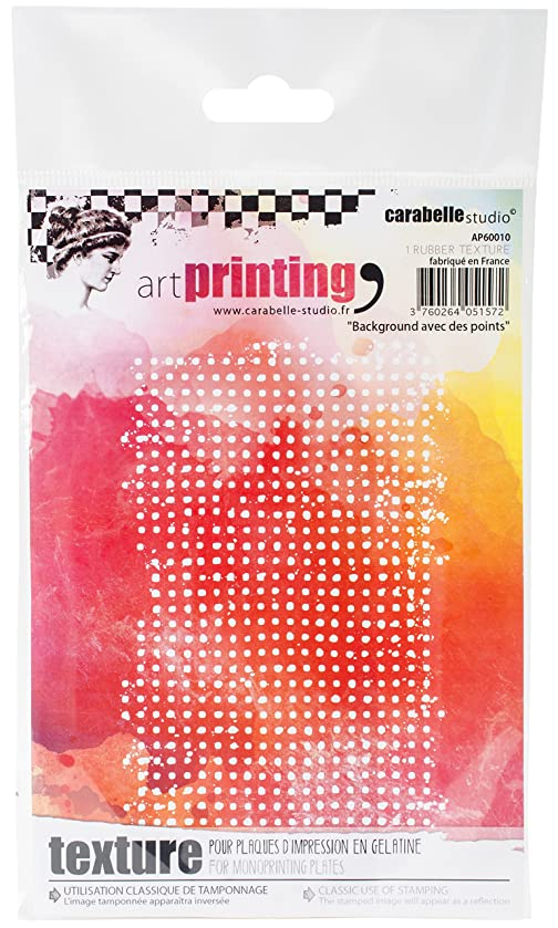 Carabelle Studio AP60010 Art Printing A6 Rubber Texture Plate, Background with Dots