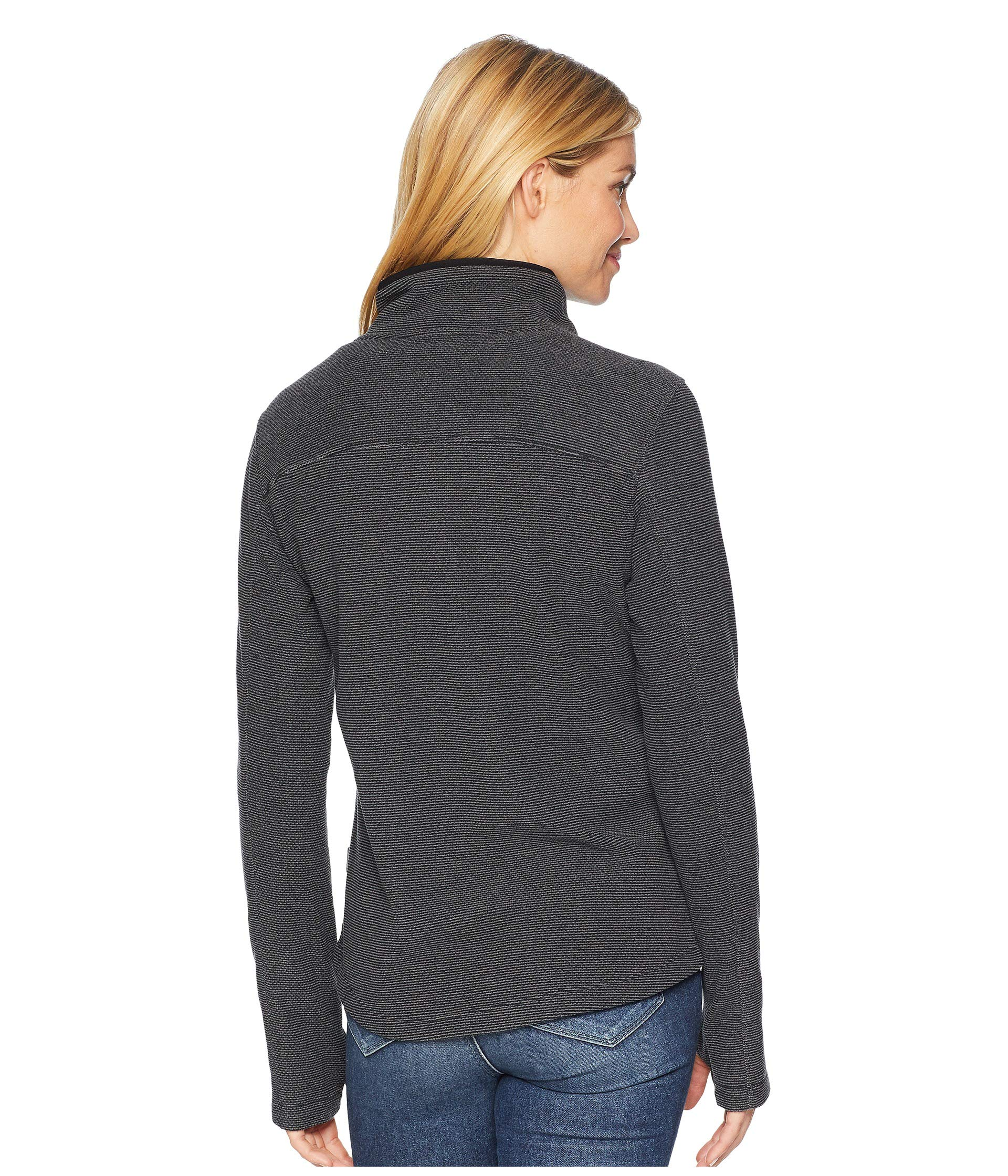 Blacktail Fleece Snap neck Black White Sierra Pullover 5qRwxqz0