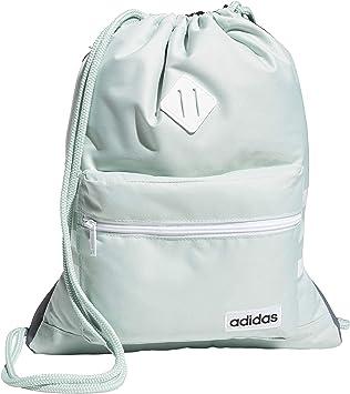 Amazon.com: adidas Classic 3S Sackpack, Green Tint/White ...