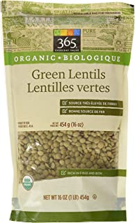 365 Everyday Value Organic Green Lentils, 16 oz
