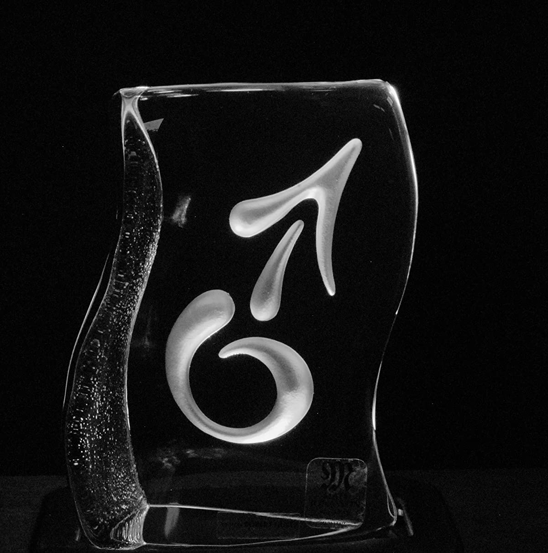 Mats Jonasson Crystal Gender Symbols He She (He, Frosted)