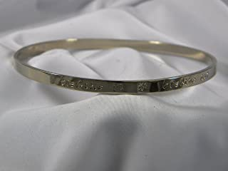 Breathe In Breathe Out Move On Solid 18k Gold Bangle