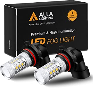 Alla Lighting Xtreme Super Bright HB4 9006 3000K Amber Yellow 3030 SMD LED Fog Lights Bulbs