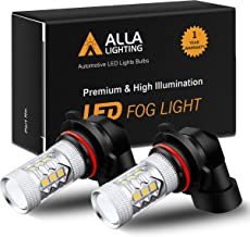 Alla Lighting Xtremely Super Bright 3000K Amber Yellow LED Fog Lights Bulbs DRL High Power 3030 SMD Chips LED Lights Replacement for Cars, Trucks (H10 9145 9140)