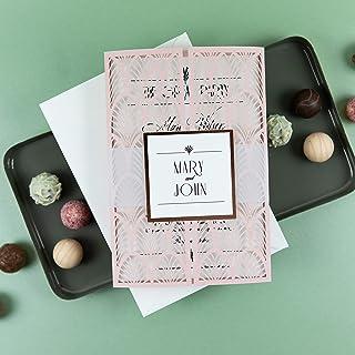 Fai da te partecipazioni matrimonio taglio laser inviti matrimonio cipria carta con busta - campione prestampato !!