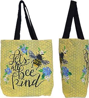 Shopper Tote Bag - Let's Bee Kind, Eco-Friendly Reusable Multipurpose Canvas Grocery Bag