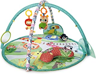 Bright Starts Peek-A-Zoo Activity Gym/Play Mat Baby/Infants w/Music/Mirror/Toys