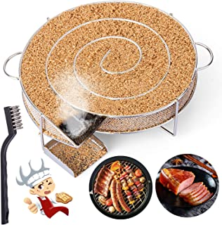 LIHAO Pellet Smoker Tray, Hot/Cold Smoke Generator for BBQ Grill, 5 Hours of Billowing Smoke, Ideal for Smoking Cheese, Fi...