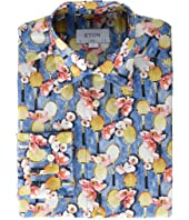 Eton - Slim Fit Tennis Print Shirt