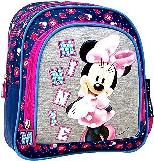 Disney Minnie Mouse - Mochila para guardería (26 x 23 x 9 cm, incluye pegatinas)