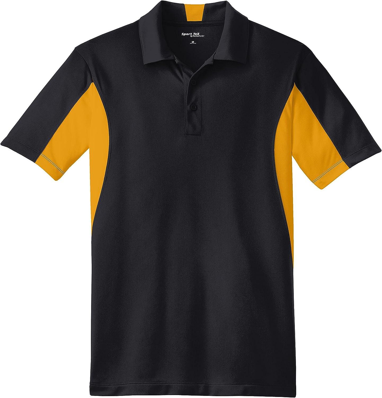Sport-Tek Men's Big And Tall Performance Polo Shirt_Black/ Gold_XXX-Large Tall