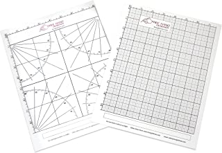 2 x Lettersize 'Freehand Designer' Sheets. Draw Perfect Straight Lines Templates. 1 x Grid Sheet for Scale Drawings, 1 x Protractor Sheet for Angles.
