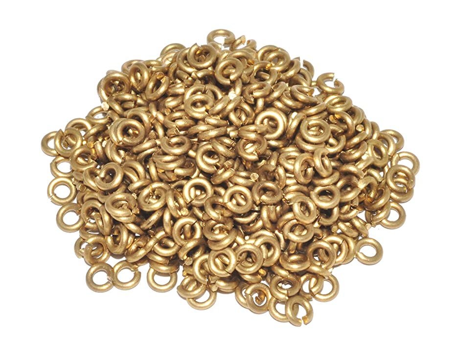 Mandala Crafts Wholesale Small Solid Brass Metal Open Jump Ring Finding Supplies in Bulk for Chain Jewelry Making (1mm 18 Gauge X 4mm, Solid Brass)