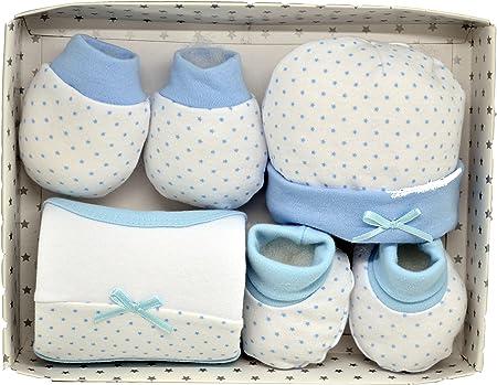 Juego primera puesta 4 piezas. Color Azul: Amazon.es: Bebé