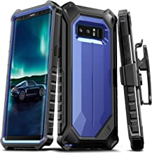 E LV Holster for Samsung Galaxy Note 8 Case, Belt Clip Rugged Case with Kickstand for Samsung Galaxy Note 8 (Dark Blue/Black)